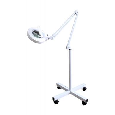 Лампа - лупа  3 д белая на стойке