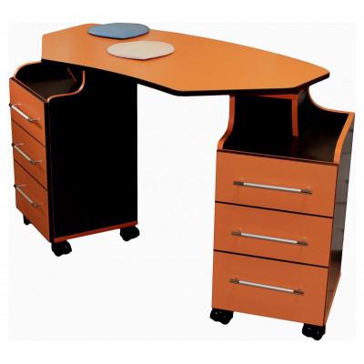 """Маникюрный стол """"Карусель"""", две крутящиеся тумбы"""