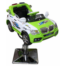 """Детское парикмахерское кресло машинка """"BMW-Полиция"""" зеленая"""